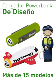 Cargador Power bank de Diseño disponible en varias formas 3D y 2D
