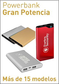 Power bank Gran potencia ideal para recargar dispositivos moviles, tablets, smartPhone, iPhone y ipad