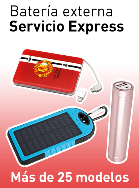Power bank publicitario con servicio express