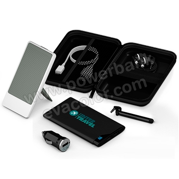 Set powerbank con adaptador para coche ideal para regalos empresariales vip