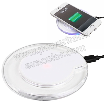 Cargador inalambrico de induccion compatible con moviles iPhone y smartphone para regalos tecnologicos originales