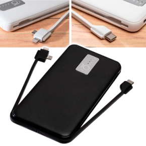 Cargador powerbank con cable multiconector integrado para regalos de empresa