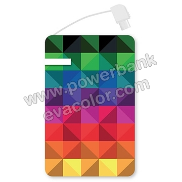 Power bank tarjeta todo color cable integrado 7d