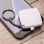 Mini llavero powerbank de emergencia con conector lightning para iPhone 600 mah