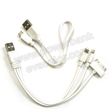 Cable Universal Powerbank tablet dos puertos USB