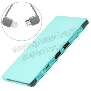 Power bank 8400 mah con cable micro usb integrado y cable con conector lightning
