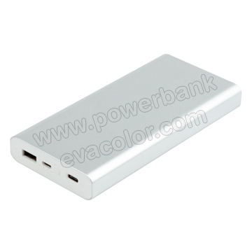Power bank con el nuevo USB tipo C en color plata, un regalo original para sanitarios, medicos, enfermeras