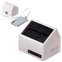 Power bank solar para escritorio con forma de casa y cable usb para moviles iphone