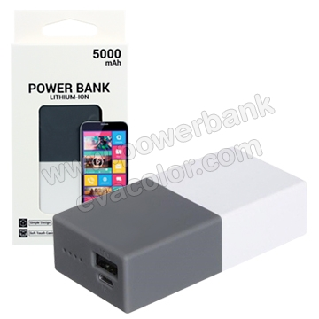 Powerbank 5000mAh con superficie antideslizante para regalos corporativos de empresa