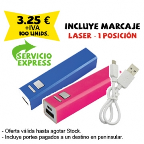 Powerbank barra aluminio