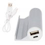 Power bank publicitario con soporte movil y cable microUSB para regalos informaticos