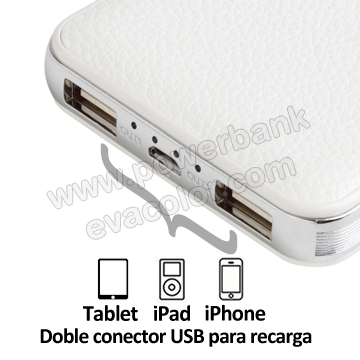 Bateria power bank fabricada en simil piel de alta calidad para tablets y moviles smartPhone