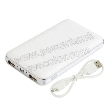 Power bank 8000mAh de simil piel personalizable con su logo