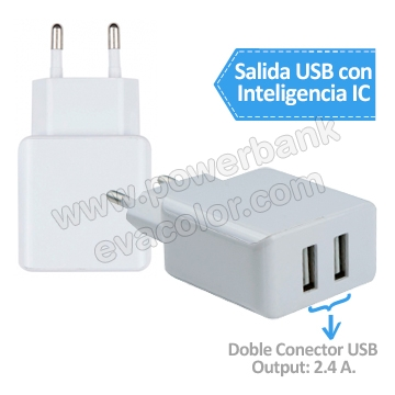 Set power bank con cargador de pared con salida inteligente IC Smart para regalos navideños