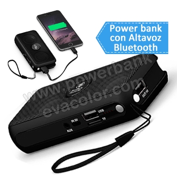 Bateria power bank multifuncional con bluetooh y funcion de manos libres para moviles smartPhone y iPhone