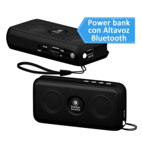 Cargador Power bank multifuncional con bluetooh para moviles y smartPhones